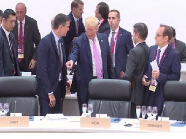 «Сядь, Педро»: Трамп на саммите G20 унизил премьера Испании (ВИДЕО)