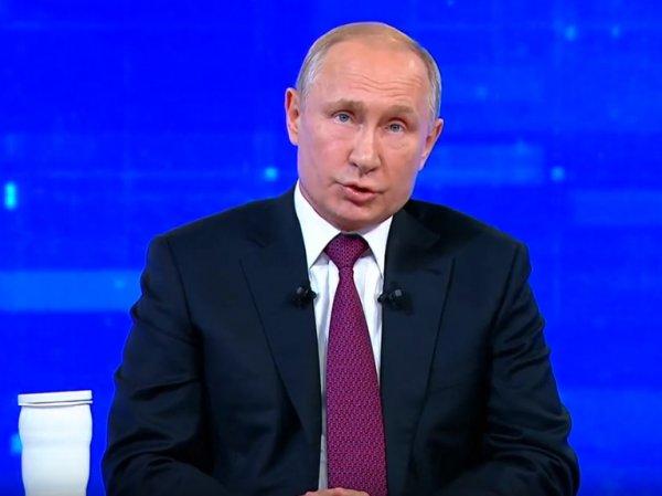 """Путин в ходе """"прямой линии"""" прокомментировал """"статью Голунова"""""""