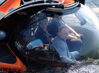 В день массовых протестов в Москве Путин совершил погружение на батискафе