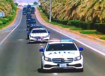 В ОАЭ кортеж Путина встретили машины с надписью ДПС