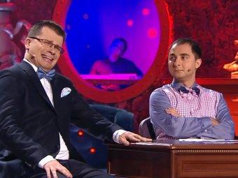 Раздевайся быстрее, Джульетта!: Харламов изнасиловал Карибидиса в Comedy Club (ВИДЕО)