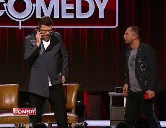 Куда мне ехать, тварь?!: Карибидис и Харламов довели до истерики Яну Кошкину в Comedy Club (ВИДЕО)