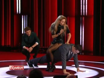 С пупсиком без шишки: Утяшева и Джиган дважды опозорили Харламова в Comedy Club (ВИДЕО)
