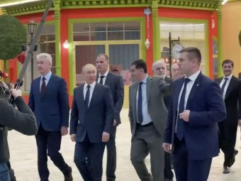Путин посетил парк развлечений Остров мечты в Москве (ВИДЕО)