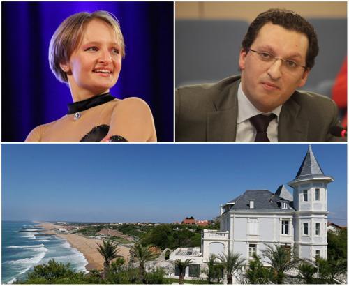 в) предположительно, жена 33-летнего бизнесмена Кирилла Шамалова – сына одного из так называемых «друзей Путина» и долларового миллиардера (по оценке Forbes), владеющего среди прочего сказочным замком на французском Лазурном берегу.