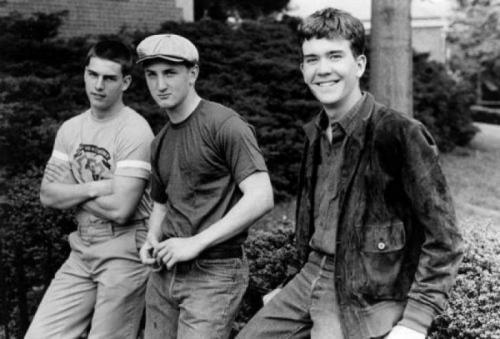 Том Круз, Шон Пенн и Тимоти Хаттон на съемках фильма «Отбой», 1981 год.