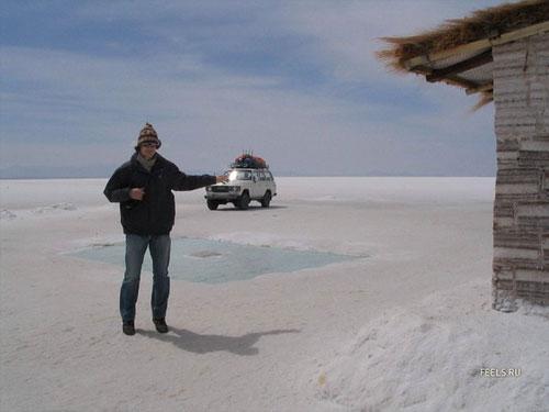 """Здесь расположен единственный в мире отель из соли под названием """"Плая Бланка""""…"""