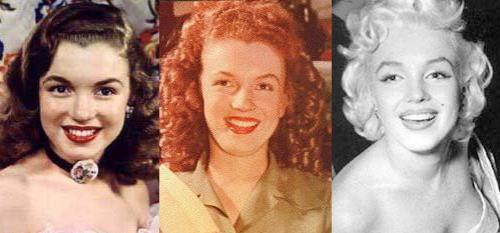 А вот Самое знаменитое и удачное преображение простушки Нормы Джин в шикарную Мэрилин Монро .
