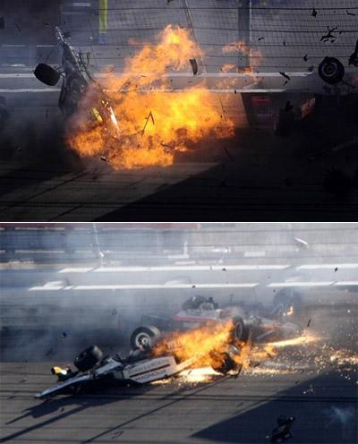 Во время касания с ограждением была сломана дуга безопасности. Сам гонщик получил сильную черепно-мозговую травму и был доставлен на вертолете в ближайшую больницу.