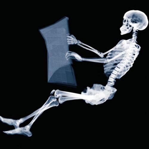 Но в качестве пассажиров – тело лишь одного умершего человека – сфотографированное  в рентген-лучах и  обработанное в различных позах на компьютере….