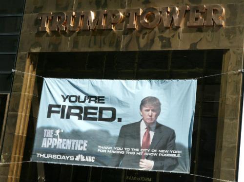 """Именно после этой передачи его выражение """"You're fired"""" («Вы уволены») стало его фирменной фразой. По словам самого Трампа, данное шоу не что иное, как 30-недельное собеседование, ведь победитель в дальнейшем будет руководить одной из компаний The Trump Organization, а его годовой оклад составит $250 000. Это шоу представило Трампа как бизнесмена, который всегда побеждает — который сможет """"сделать Америку снова великой""""."""