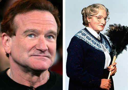 "Робин Уильямс (Robin Willimas) - ""Миссис Даутфайер"" (Mrs. Doubtfire)."