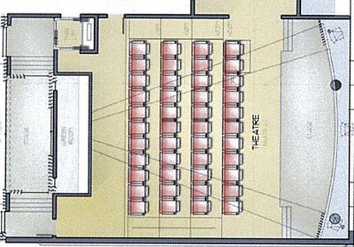 Согласно проекту, 80 процентов площади потолка этого зала украсят люстры из хрусталя, а в одном из углов будет сцена и десяток мониторов.