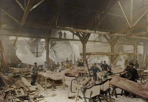 1882 год. Строительство статуи Свободы в мастерской французского скульптора Фредерика Огюста Бартольди в Париже.