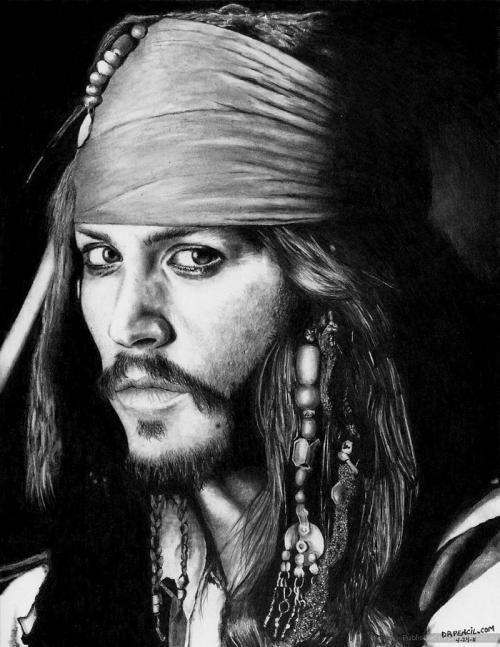 Джони Депп (Johnny Depp) в роли Капитана Джека Воробья (Captain Jack Sparrow)