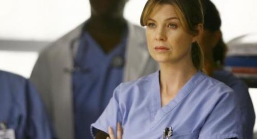 Эллен Помпео в сериале Seattle Grace.