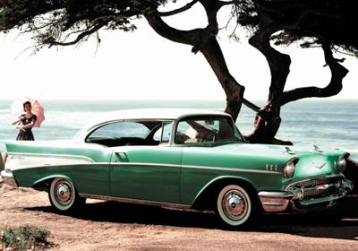 33. 1957 Chevrolet Bel Air Hardtop