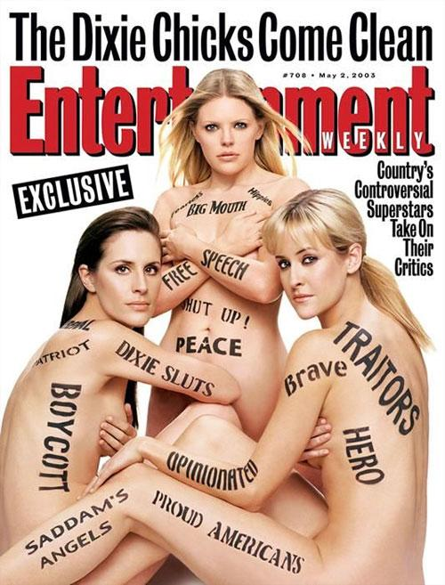 "�� ������� ""Entertainment Weekly"" 2 ��� 2003- ���������� ���������� �������� ������ Dixie Chicks. �� ������ ������� ������� - ""������"", ""���������"", ""�����"" � �� ��� ������ �� �����, ��������� ������ ������ ����� (Natalie Maines) �� �������� � ������� ������� ����������� ��������� ������������ ����� � ����. ��� ������������ �������������� ������ ����������� �� �������������� ��������� ������."