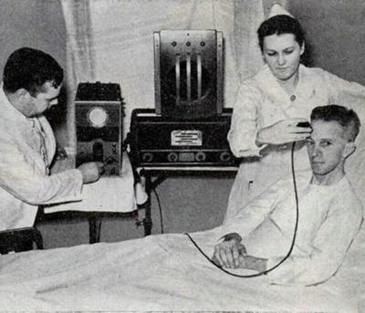 Прибор для обнаружения звона в ушах (1938)