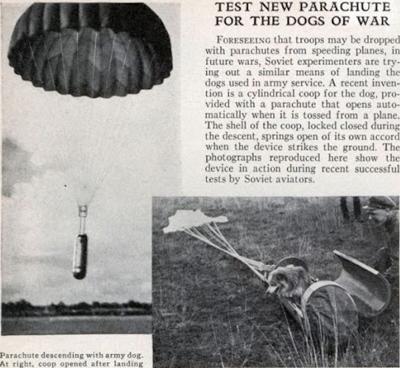 Советский парашют для военных собак (1935)