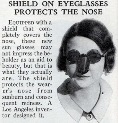 Солнцезащитный козырек для носа (1932)
