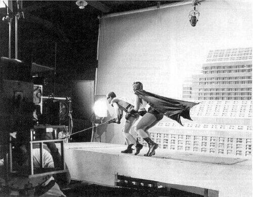 Съемка фильма Бэтмен, 1966.