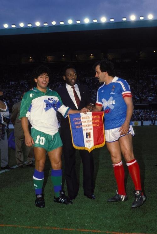 Марадона, Пеле, Платини, 1988.
