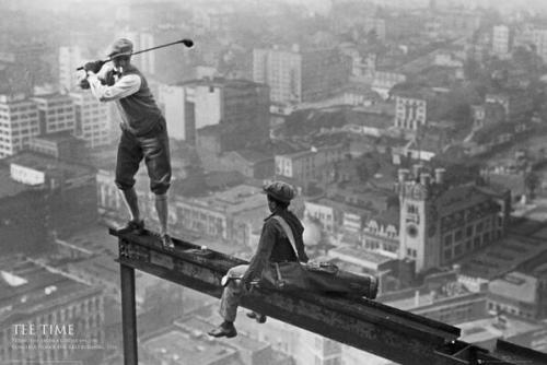 Игра в гольф на небоскребе, 1932.