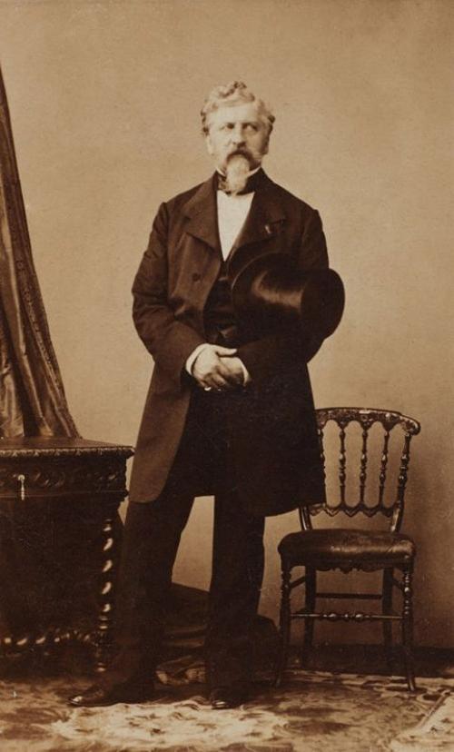 Жорж Шарль Дантес — убийца Александра Сергеевича Пушкина, 1860 год.