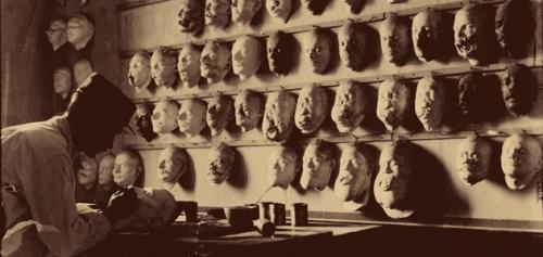 Изготовление протезов для раненных в лицевую область солдат, 1918 г.