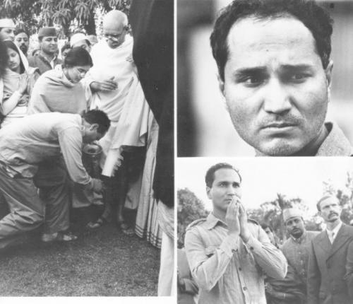 За несколько мгновений до того, как Натхурам Годзе убил Махатму Ганди
