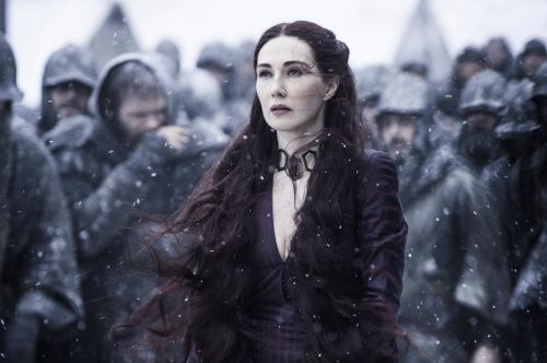 Летом 2011 года Кэрис ван Хоутен была утверждена на роль жрицы и заклинательницы Мелисандры из Ашая в фэнтази-сериале канала HBO «Игра престолов 2 сезон». Ее рыжеволосая героиня всегда ходит в красном и служит Станнису Баратеону. Она обладает даром предсказывать будущее и верит, что Станнис избран, чтобы привести народ к Рглору.