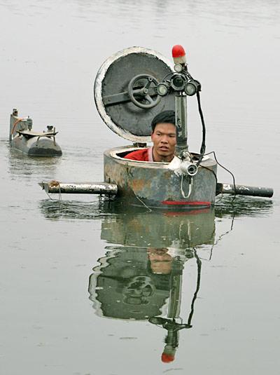шноркель на подводной лодке