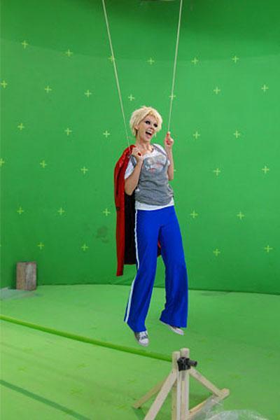 Для нового клипа Валерия летает…