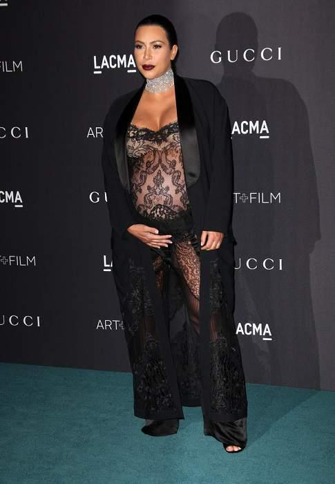 Ким Кардашьян на званом ужине LACMA Film + Art Gala