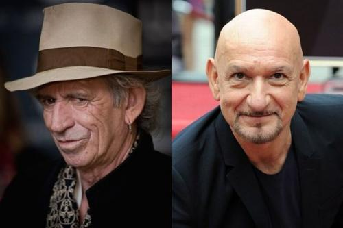Кит Ричардс (Keith Richards) и Бен Кингсли (Ben Kingsley) - 67 лет
