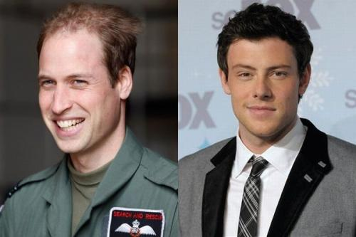 Принц Уильям (Prince William) и Кори Монтейт (Cory Monteith) - 28 лет