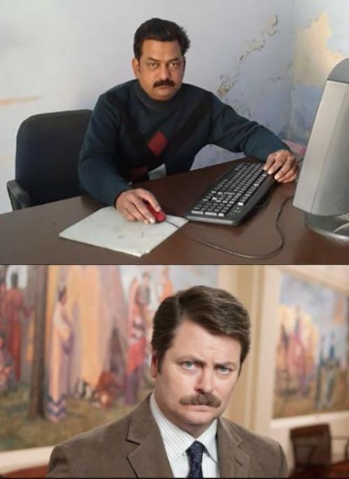 Индийский Ник Офферман. Многим россиянам этот актер знаком по мему «Я человек простой».