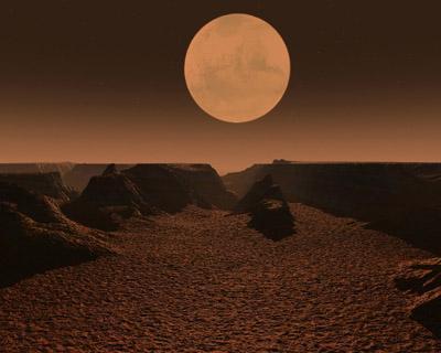 Самый большой каньон в Cолнечной системе
