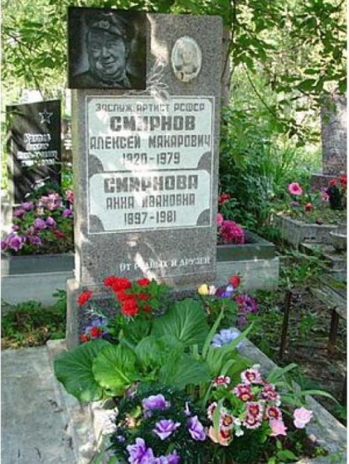 Алексей Смирнов был похоронен на Южном кладбище Санкт-Петербурга.
