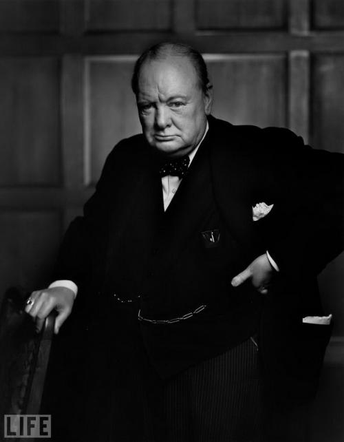 Уинстон Черчилль (Winston Churchill). Photo by Yousuf Karsh, 1941.