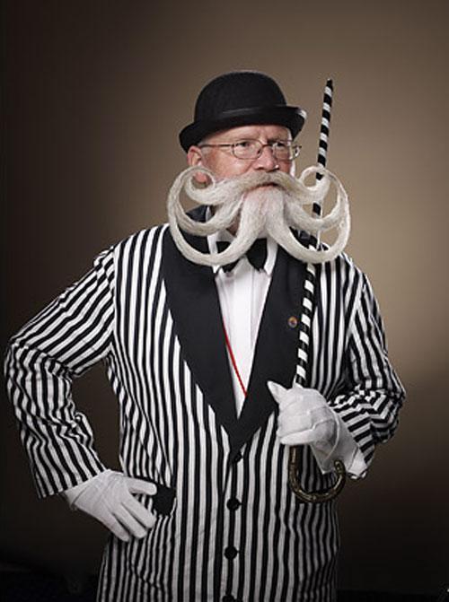 65-летний житель немецкого города Зигмаринген Вилли Шевалье (Willi Chevalier) — победитель необычного соревнования «Лучшие борода и усы» 2007 Partial and Freestyle Beard competition, которое прошло в Брайтоне в сентябре 2007.