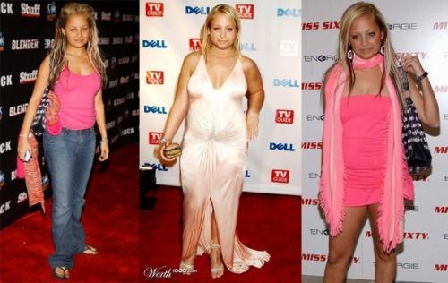 Николь резко похудела после участия в реалити-шоу с Пэрис Хилтон, осветлила волосы, изменила стиль.