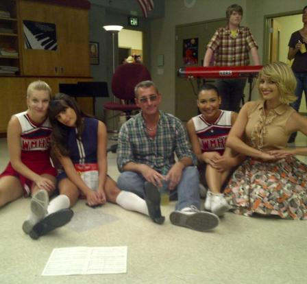 ����� ������ (Heather Morris) � ��� ������ (Lea Michele) �� ����� ��������� �������� � ���� ������ �Glee�.