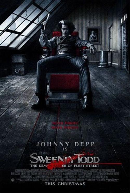 Главный приз в номинации «лучший постер 2007 года»  получает постер к фильму Тима Бертона «Суинни Тодд, маньяк-парикмахер» (Sweeney Todd)…