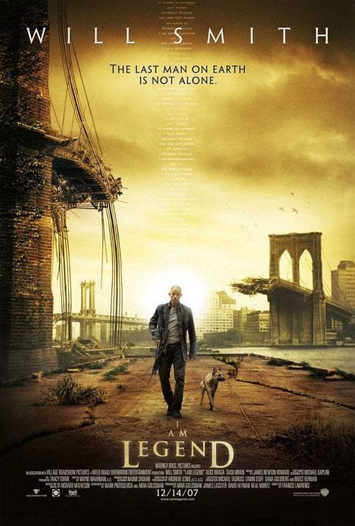 Постер  фильма «Я легеда» (I Am Legend ) удостоился звания «лучший постер блокбастера».