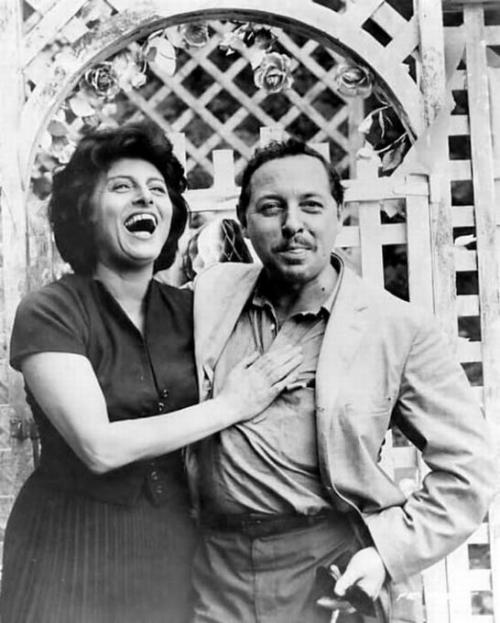 Анна Маньяни (Anna Magnani) и Теннесси Уильямс (Tennessee Williams)