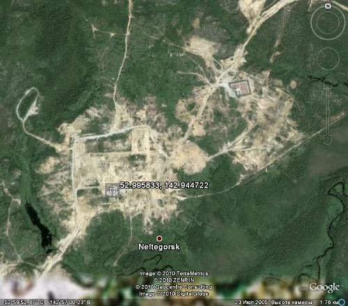 Нефтегорск - город призрак, полностью разрушен в 1995 г после землетрясения силой 9-10 баллов
