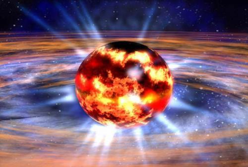 Когда массивная звезда взрывается, ее ядро превращается в так называемую нейтронную звезду. Нейтронные звезды настолько плотные, что лишь чайная ложка вещества, из которого они состоят, будет весить больше, чем гора Эверест. Взрыв способен раскрутить нейтронную звезду до умопомрачительной скорости — до 600 оборотов в секунду.