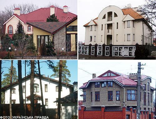 Слева вверху – дом Юлии Тимошенко. Слева внизу – дом Евгении Тимошенко. Справа вверху – дом мамы Тимошенко. Справа внизу – дом двоюродной сестры Тимошенко (Источник фото: «Украинская Правда»)